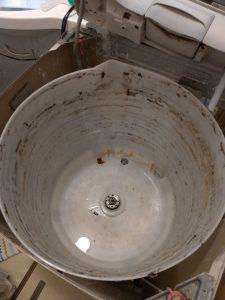 洗濯槽をはずした状態