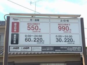 タイムズ阪急嵐山駅前